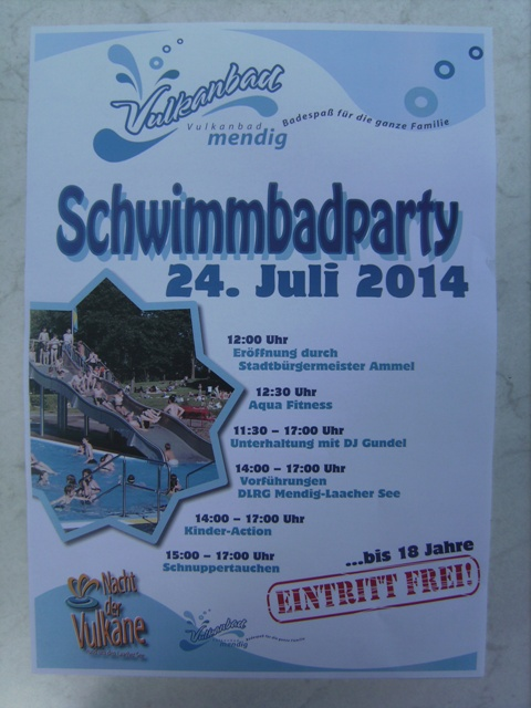 Schwimmbadparty